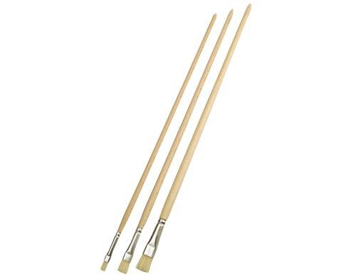 Set di pennelli mako Gussow-pennello Set di 3 chiare setole n, 4 8 12 lavassi depennare verniciamo