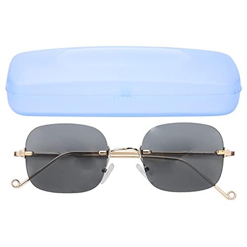 Yinhing Gafas de Sol para Hombres, Mujeres, de Mediana Edad, Ancianos, Gafas de Sol Anti-UV, polarizadas, clásicas, a Prueba de Rayos Ultravioleta, Lentes Negras y Grises