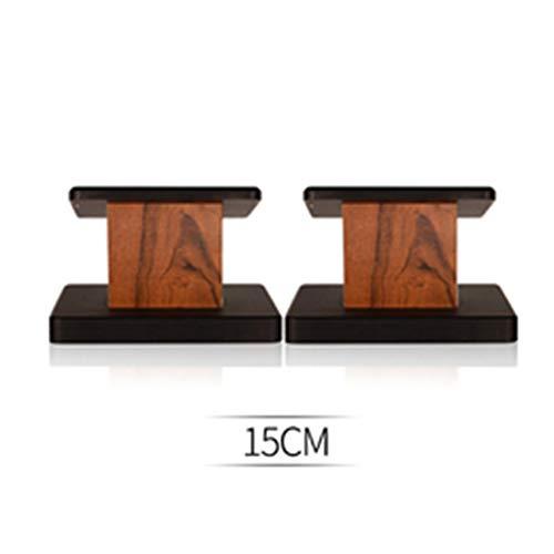 Soportes De Altavoz (par) Estantería De Suelo Envolvente Altavoz De Madera Profesional Audio Vertical For Sala De Estar (Color : Brown, Size : 15cm)