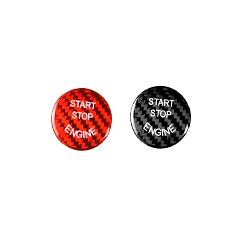 Ninuypoy Cubierta de botón de Arranque y Parada de Motor de Coche con Pegatina de Fibra de Carbono, para BMW e90 e46 e39 e36 e60 f30 f10 e87 e53 e70 g30 X5 5 Series