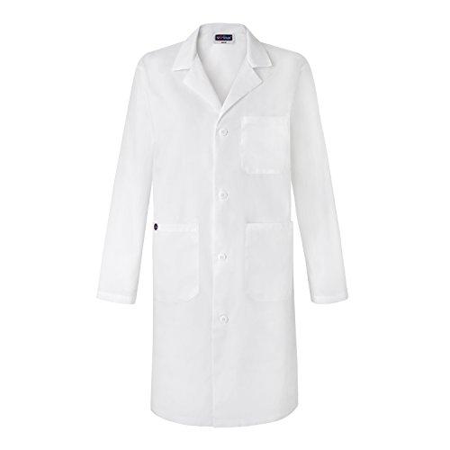 Sivvan Unisex 39 Inch Lab Coat - Back Pleated - S8802 - White - M