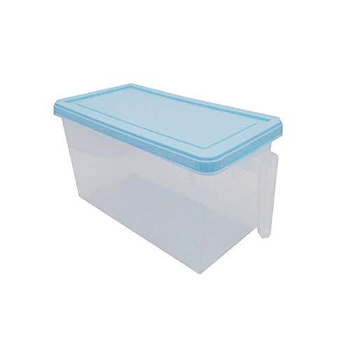 XKMY Cajones para frigorífico, plástico para cocina, frigorífico, caja de almacenamiento de alimentos, contenedor transparente para mantener el huevo, pescado, fruta fresca y nevera (color: azul)