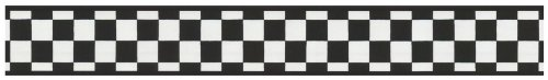 York Wallcoverings IN2642B Check Border, Black/White