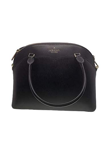 Kate Spade New York Payton Medium Dome Top Zip Satchel Crossbody Bag in Black