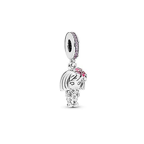 LISHOU Mujer Pandora S925 Colgante De Plata Esterlina Animal Pet Series Colgante Charms Bead Fashion Girl Pulseras Collares DIY Jewelry Making Gift