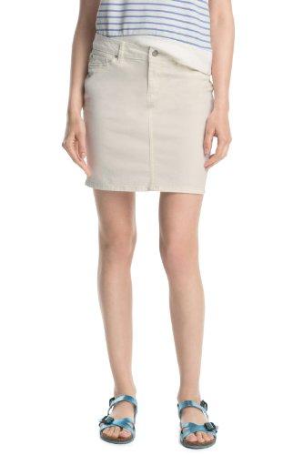 ESPRIT Damen Mini, aus stretchigem Baumwoll-Mix Rock, Weiß (Off White 103), W28 (Herstellergröße: 28)
