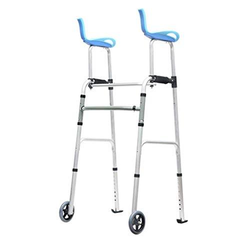 HFJKD Walker Elderly Vierfüßiger Walker Vierbeiniger Stuhlhocker Walking Auxiliary Walking Stick Höhenverstellbarer Walker GIF