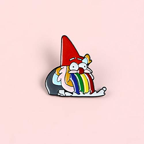 Vomitive Rainbow Santa Claus Enamel Pins Funny Gnome Animated Cartoon Strange Town Badge Brooches Lapel Pin For Kids Gifts