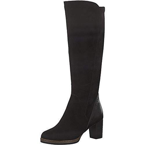 MARCO TOZZI Damen 2-2-25522-25 Langschaftstiefel Kniehohe Stiefel, BLACK COMB, 39 EU