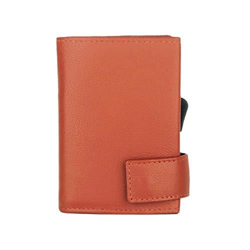 SecWal SecWal Kartenetui mit Münzfach Druckknopf (Orange)