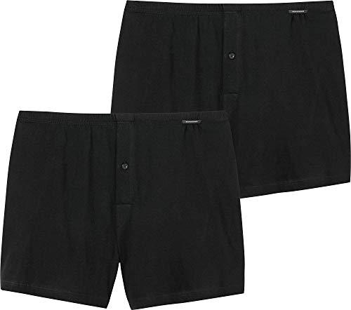 Schiesser, Herren Boxershorts, Jersey, 2er Pack, schwarz, 10