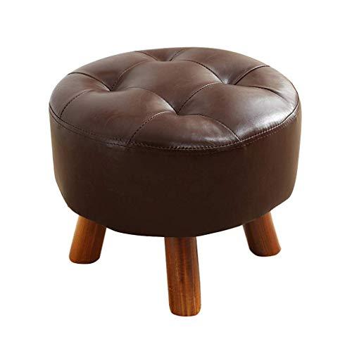 JIAXU Fußhocker Ottomane Wechselschuhhocker Luxus Rund Fußhocker Sofa Wechselschuhe Hocker Gepolstert Ottomane und Fußstütze Kinderhocker