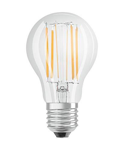 OSRAM Dimmbare Filament LED Lampe mit E27 Sockel, Warmweiss (2700K), klassische Birnenform, 9W, Ersatz für 75W-Glühbirne, klar, LED Retrofit CLASSIC A DIM