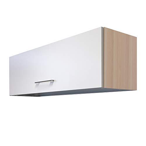 MMR Küchen-Klapphängeschrank DERRY, Klappschrank, Hängeschrank, 1-türig, 100 cm breit, Perlmutt Weiß