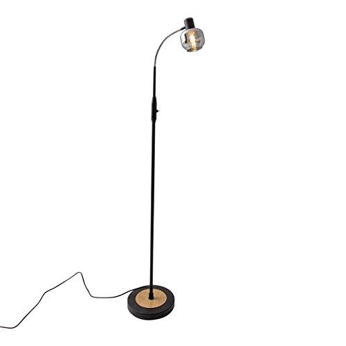 Näve Fumoso - Lámpara de pie decorativa (cristal, 1 bombilla E14, 40 W)