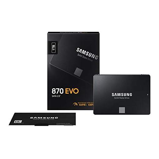 "Samsung SSD 870 EVO, 1 TB, Form Factor 2.5"", Intelligent Turbo Write, Magician 6 Software, Black (Internal SSD) 9"