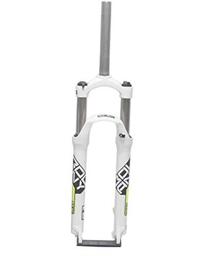 ZHTY Horquilla Delantera de Bicicleta con suspensión de 24 Pulgadas, Recorrido de Disco de 100 mm/Freno en V, Horquilla de suspensión para Bicicleta con Control de Hombro
