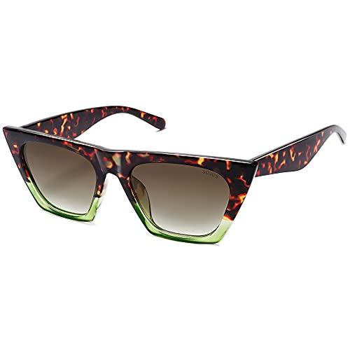 SOJOS Vintage Cateye Gafas De Sol Polarizadas Mujer Moda De Gran Tamaño Marco SJ2115