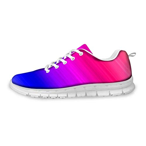 MODEGA Chaussures éblouissantes scintillent Chaussures de pêche colorés sneakerkers Confortables pour Les Femmes de Taille Plus des Chaussures de Sport pour Les garçons cha Taille 41 EU|7 UK