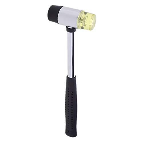 LLKK Martillo de Cuero de Doble Cabeza,el diámetro de la Cabeza del Martillo es de 25/30/35 mm,con Agarre Antideslizante