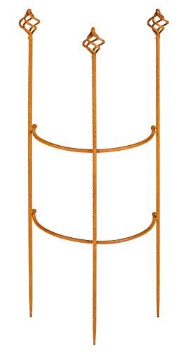Manufaktur-Lichtbogen Staudenhalter halbrund 71 x 23 cm Staudenstütze Pflanzenstütze aus Metall
