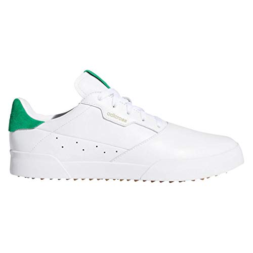 adidas Golf Hommes Adicross Retro Leather Imperméable Chaussures sans Golf White/Green 9.5UK