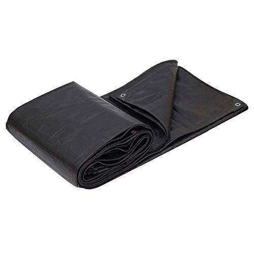Lona de alto rendimiento - lona de alta densidad - polietileno tejido y doble laminado   100% impermeable y protegido contra los rayos UV - 2 x 3 m 180 g m negro (color: negro tamaño: 4 & veces; 4