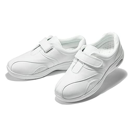 [na-su.com] ナースシューズ 白 2WAY No.11 歩きやすい 男女兼用 幅広 4E アーチサポートインソール 看護師 エアークッション 26.0cm ホワイト