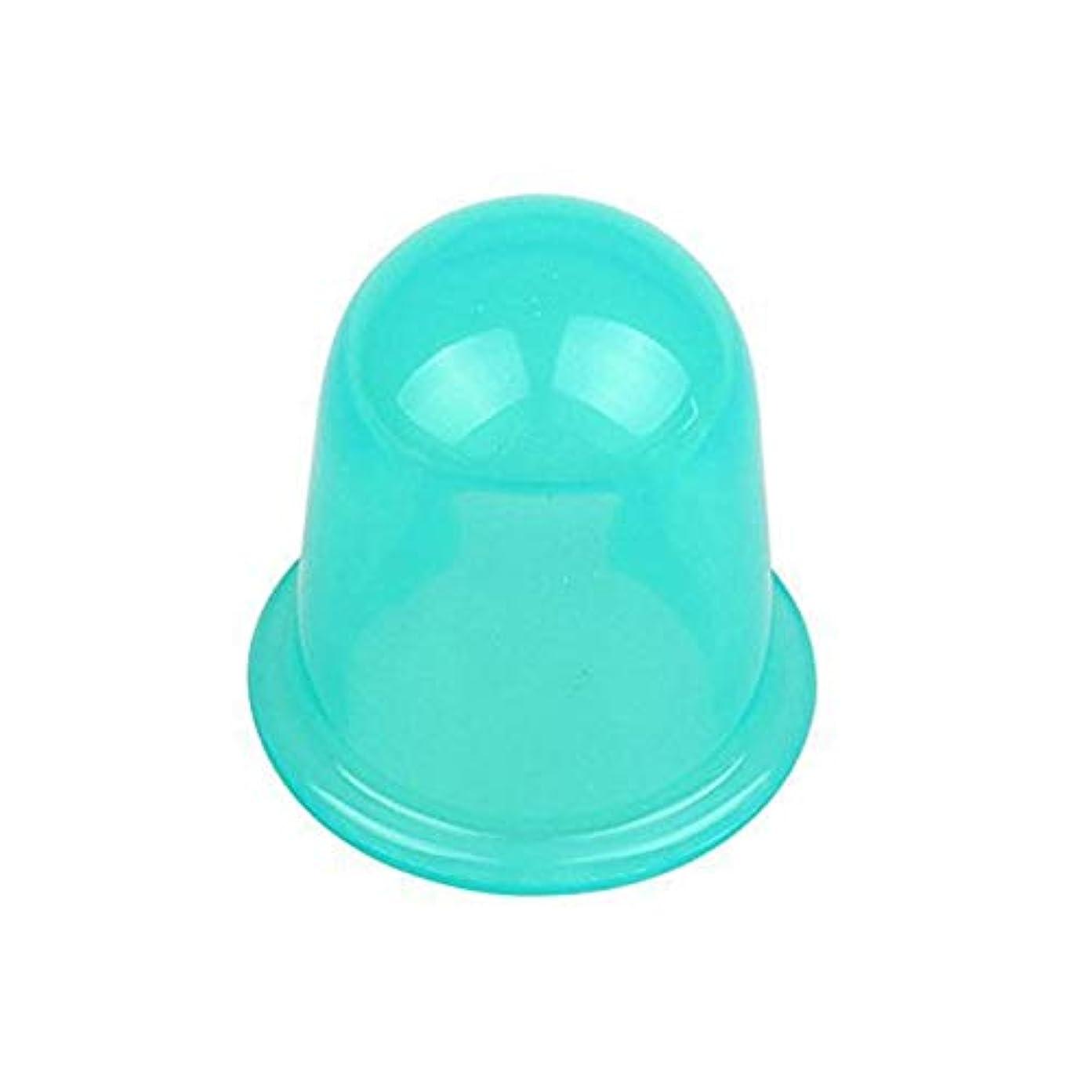見えない謎めいたストロー耐久性のある水分吸収体アンチセルライト真空カッピングカップデバイスフェイシャルボディマッサージセラピーシリコーンカッピングカップ - グリーン