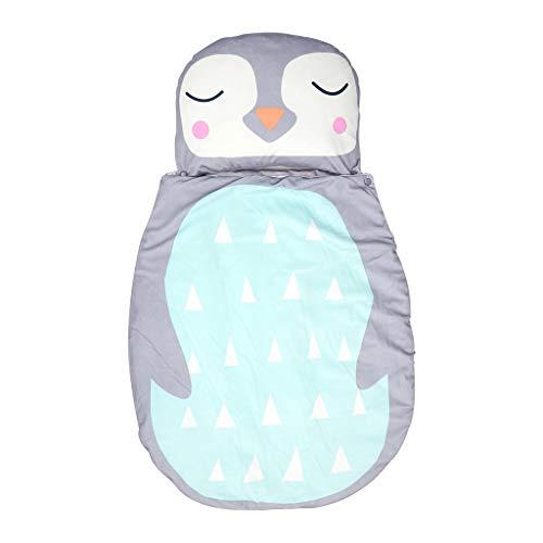 T TOOYFUL Baby Cartoon Schlafsack Weiche Flanell Tragbare Decke Mit Kissen Kinder Winter Plüsch Schlafsack - Pinguin, 75x50cm