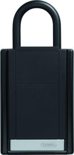 ABUS Schlüsseltresor KeyGarage 777 mit Bügelhalterung | individuell einstellbarer Zahlencode | wetterfest | passend für Schlüssel und Plastikkarten | schwarz | 53508