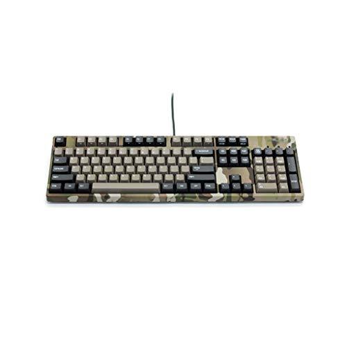 ZRJ Teclado Keyboard de Juego mecánico con Cable 108 Teclado Anti-Fantasma Interruptor Azul Teclado de tamaño Completo para PC Gamer Ordenador portátil Teclados (Color : Grey)