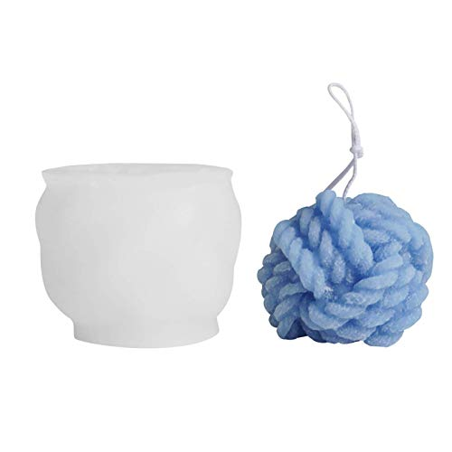 Wangduodu Silicone Candle mould, 3D Knitting Knot Shaped Candle Molds Bubbles Magic Knot Soap Silicone Mold for Soap Candle DIY Crafts