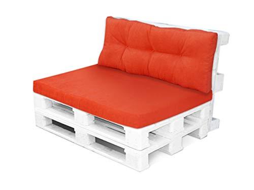 4myBaby GmbH Best for Garden Coussin d'assise pour 2 personnes avec dossier pour banc 120 x 80 x 10-16 cm