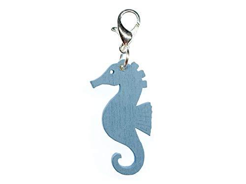 Miniblings Mar del Seahorse Caballo Encanto Pulsera Encanta el Encanto Pendiente del Azul Oscuro