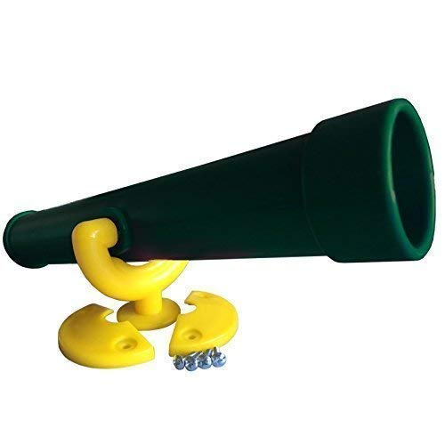 Loggyland Teleskop Fernrohr für Spieltürme, (gelb/grün)