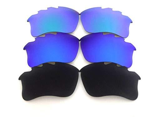 Lente de repuesto para gafas de sol Oakley Flak Jacket xlj ventiladas negro/azul/verde polarizadas