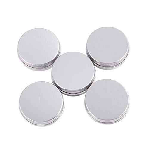 ACAMPTAR 5 x conteneurs cosmetiques vides couvercle a vis du recipient jar levre pot de baume en aluminium 15ml