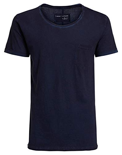 DAILY`S NOTHING`S BETTER BY S. W. B. Hanno: Herren Basic T-Shirt, Color:Navy, Size:L