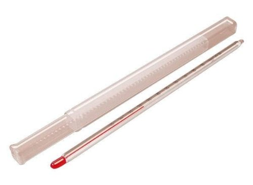 'Hecht' Universal Thermometer - Messbereich von -12° bis 112° Grad Celsius - 20 cm Länge - rote umweltfreundliche Messflüssigkeit - Glasthermometer