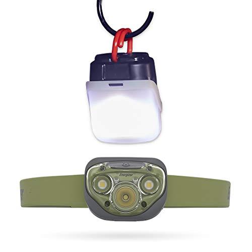 Linterna frontal y estuche de linterna Energizer Vision HD+, linterna frontal LED de 260 lúmenes, IPX4 de resistencia al agua, manos libres con lente a prueba de roturas, para interior y exterior