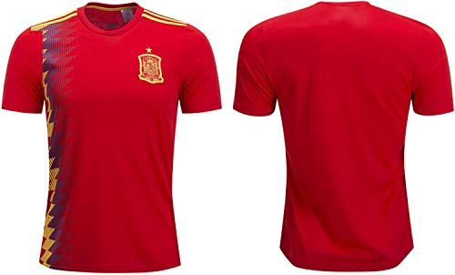 Spain Soccer Jersey Men's Sizes Football World Cup Premium Gift (X-Large, Home)