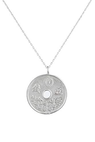 Córdoba Jewels | Gargantilla en Plata de Ley 925 con diseño Moneda Japonesa Silver