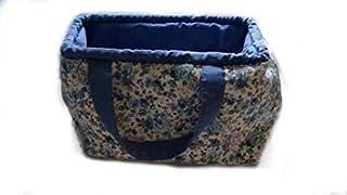 Bolso grande de tela con bonitas flores azules, perfecto para mujeres a las que les guste la decoración floral y elegante....
