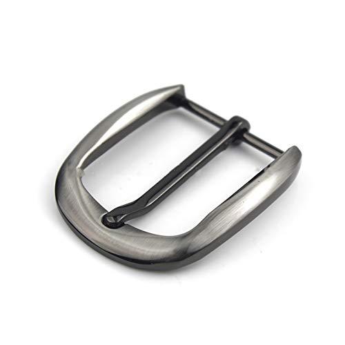 Hebilla del cinturón 2 piezas de cinturón de moda de 35 mm Hebilla de metal de metal Hebilla de hebilla de la barra de la barra del talón de la barra de un solo pin de cuero de la hebilla de cuero cor