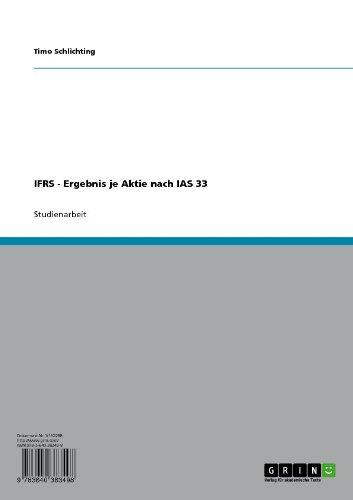 IFRS - Ergebnis je Aktie nach IAS 33