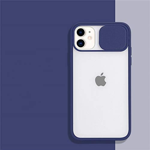 AAA&LIU Estuche para teléfono con protección para Lentes de cámara para iPhone 11 Pro MAX 8 7 6 6s Plus XR XS MAX X Color Caramelo, Funda Transparente Mate, Regalo, Azul Real, para iPhone X