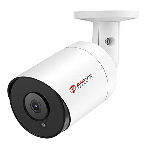 Anpviz PoE IP Kamera 5MP Outdoor HD Bullet Überwachungskamera mit Audio und SD Kartensteckplatz,IP66 im Freien wasserdicht, 2.8mm Weitwinkelobjektiv 20-30M Nachtsicht, Bewegungserkennung(IPC-B850W-DS)