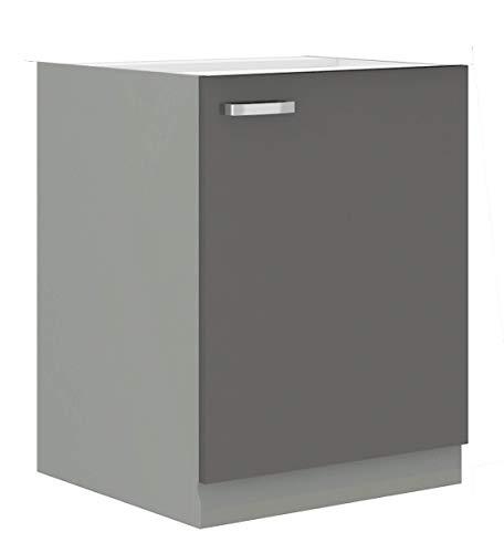 Küchen Unterschrank 60 Grey Hochglanz Grau Küchenzeile Küchenblock Küche Vario