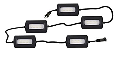 StonePoint LED Lighting Ultra Bright 50 Foot LED String Light – Non-Breakable Weatherproof Industrial Grade Full Coverage Utility String Light 55 Watts 5000 Lumens